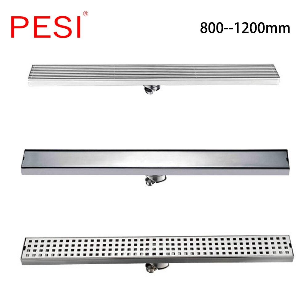 Linear Bathroom Floor Drain Gate 60cm 80cm 100cm 120cm SUS304 Stainless Steel Deodorization Type Side row Shower Floor Drain.